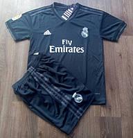 Футбольная форма детская Реал Мадрид черная сезон 2018-19