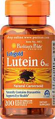 Puritan's Pride Lutein 6 mg, Лютеїн (200 кап)