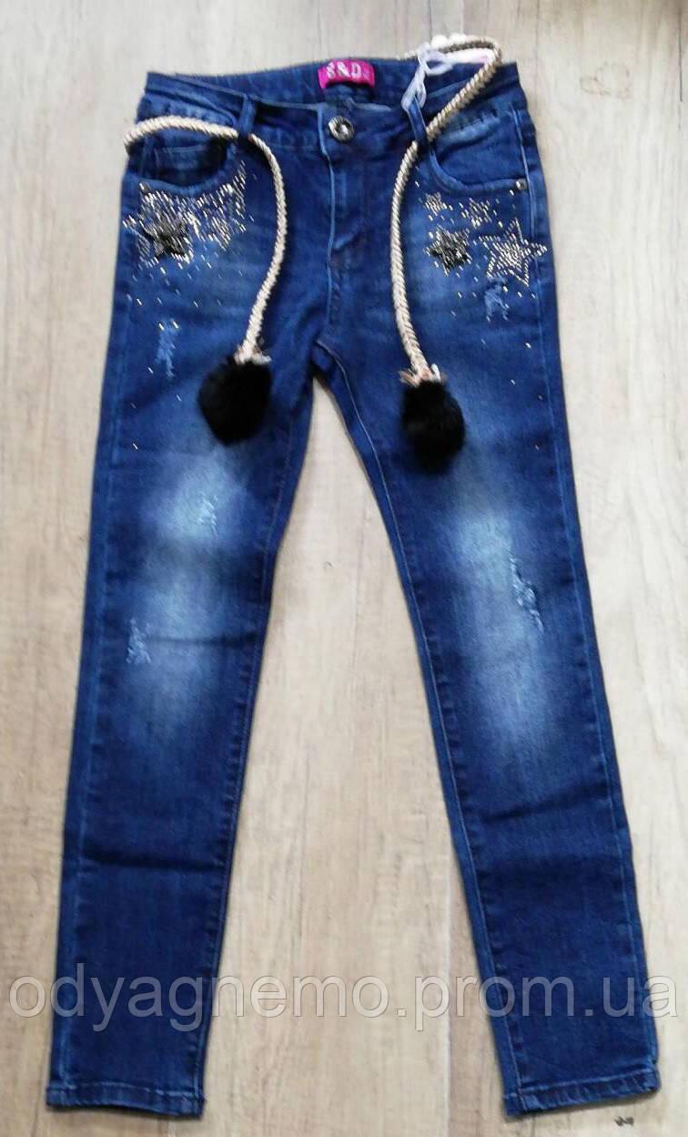 Джинсовые брюки для девочек S&D оптом, 8-18 лет.