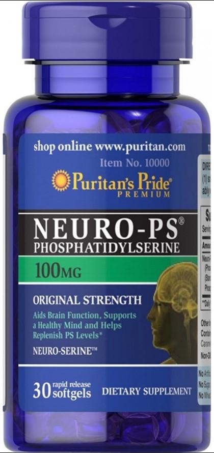 Puritan's Pride Neuro-PS 100 mg (30 капс.)