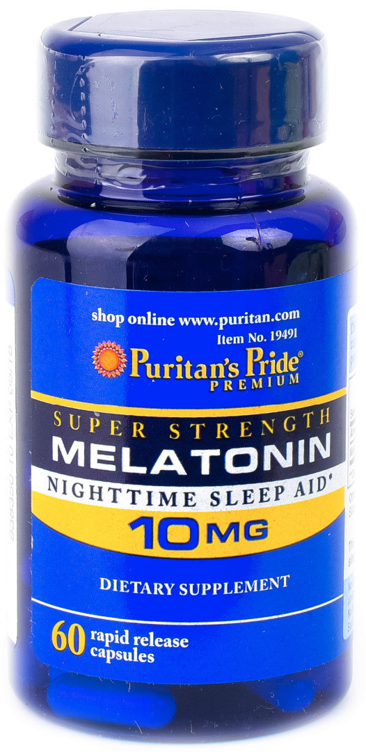 Puritan's Pride Melatonin 10 mg, Мелатонин (60 капс.)