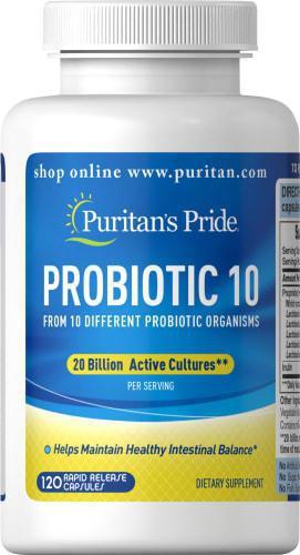 Puritan's Pride Probiotic 10 (120 капс.)