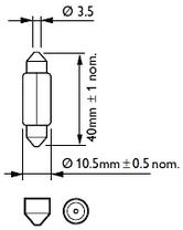 Светодиодная лампа цоколь SV8,5(C5W) 31mm 3-5630 LED Белый, фото 3