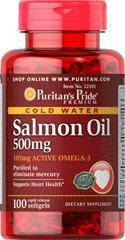 Puritan's Pride Salmon Oil 500mg, Рыбий жир из лосося (100 капс.)