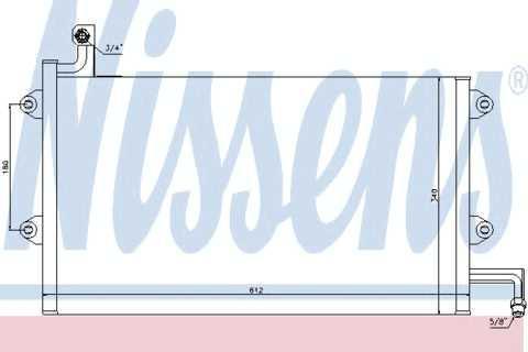 Радиатор кондиционера Volkswagen Vento 1992-1999 (без осушителя) 557*371мм по сотах KEMP