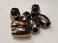 Наконечник для шнура и резинки Колокольчик #06 (пластмасса) цвет антик 500шт