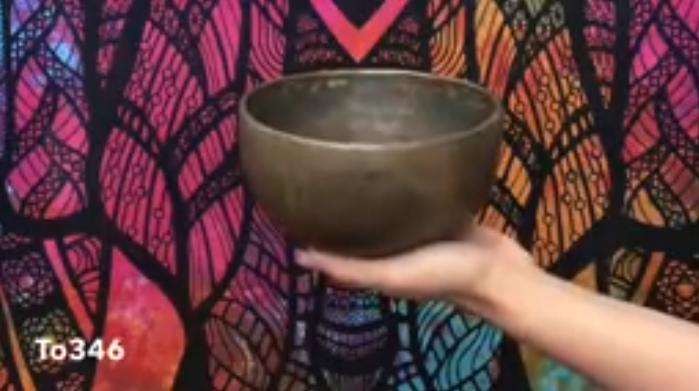 Старинная тибетская поющая чаша (To346)