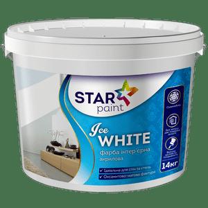 Краска для потолков и стен Ice White STAR PAINT, 14кг