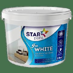 Краска для потолков и стен Ice White STAR PAINT, 1.4кг