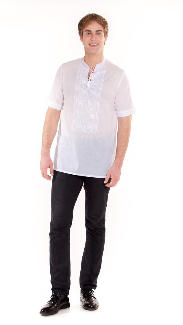 вышиванка белое-по белому мужская