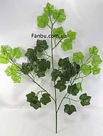 Штучна гілка клена 50см з невеликими листям(листя зелені та темно зелені), фото 1