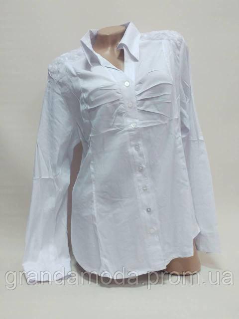 3cba92aabe3 Блуза Рубашка Женская Белая с Длинным Рукавом 52-54р — в Категории ...