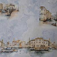 Обои Венеция 8639-03 ,виниловые, супермойка,в рулоне 5 полос по 3 метра,ширина 0.53 м, фото 1
