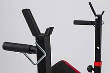 Скамья тренировочная Hop-Sport HS-1070 + верхняя тяга + парта скотта , фото 2