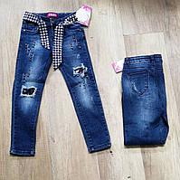 Джинсовые брюки на девочку оптом, S&D,8-18 рр.