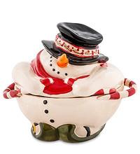 Конфетница фарфоровая Снеговик итальянкой фирмы Pavone