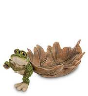 Фигурка конфетница Лягушка с листом 27 см GG-4543-XC