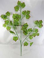 Искусственная ветка клена 50см с небольшими листьями(листья зеленые с красным краем), фото 1