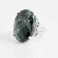 Серафинит, серебро 925, кольцо, 892КС