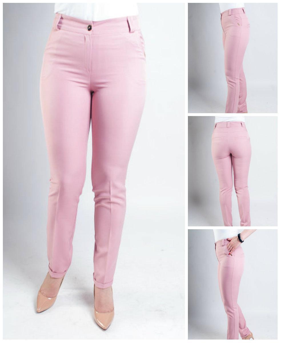 Женские деловые брюки с манжетами. 48-56