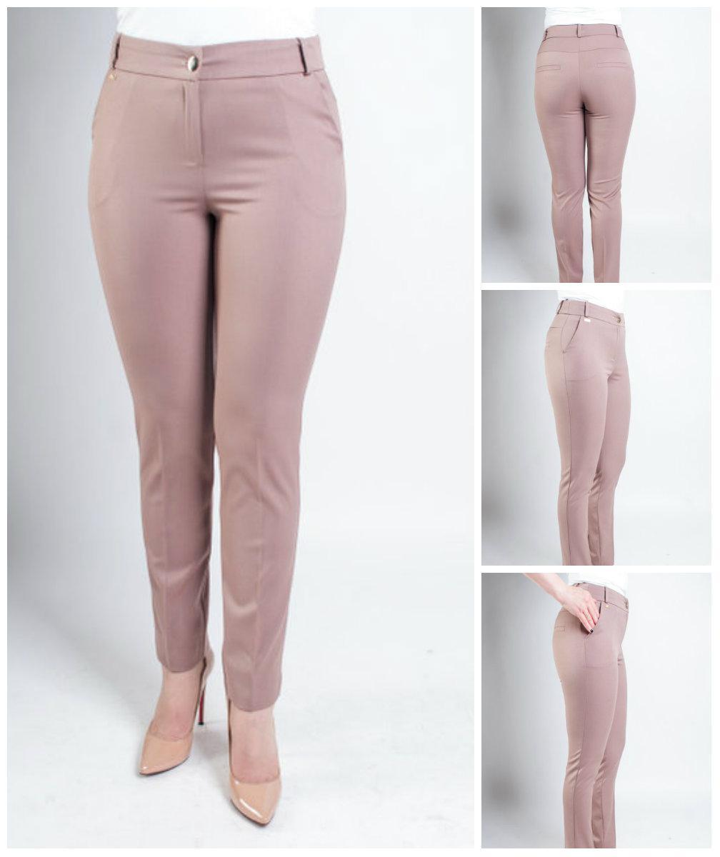 Женские деловые брюки с высокой посадкой. 44-58