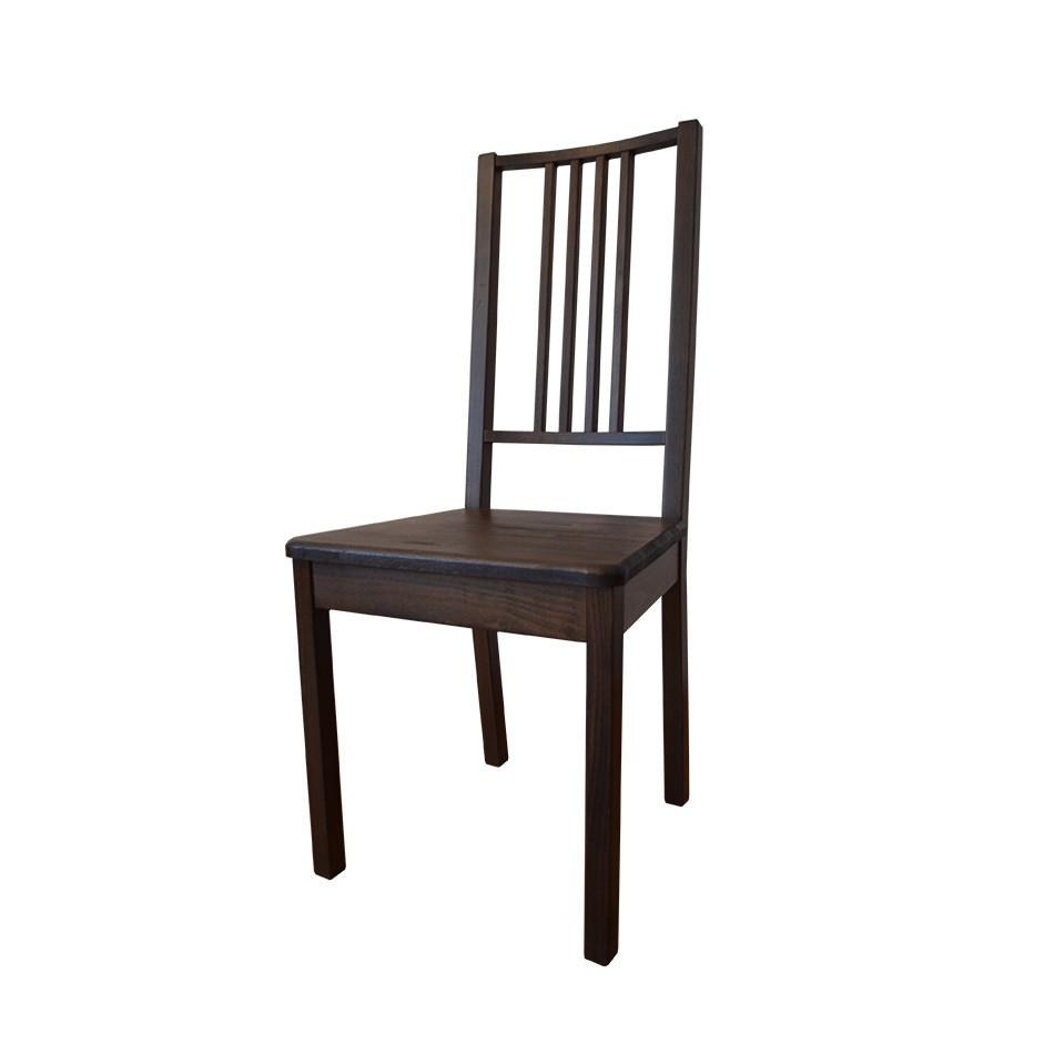 """Стілець """"Ліра"""", коричневий (горіх), бук, з твердим сидінням"""