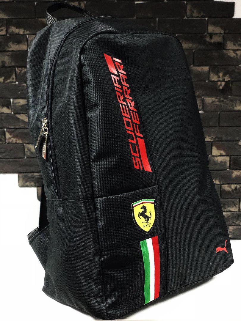 5c984becc438 Рюкзак городской Puma Ferrari Scuderia Пума Феррари черный стильный  (реплика), ...