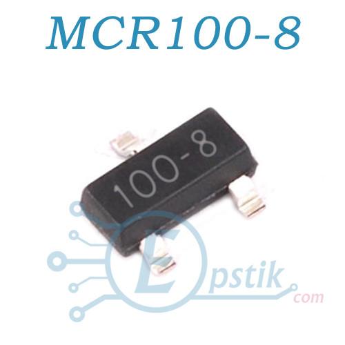 MCR100-8, тиристор, SOT23