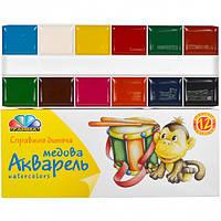 Акварель 12 цветов картон «Гамма» 17×7 см  311036