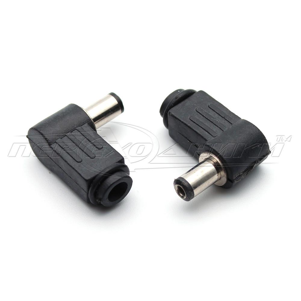 Разъем питания DC штекер угловой 5.5x2.1 мм  на кабель