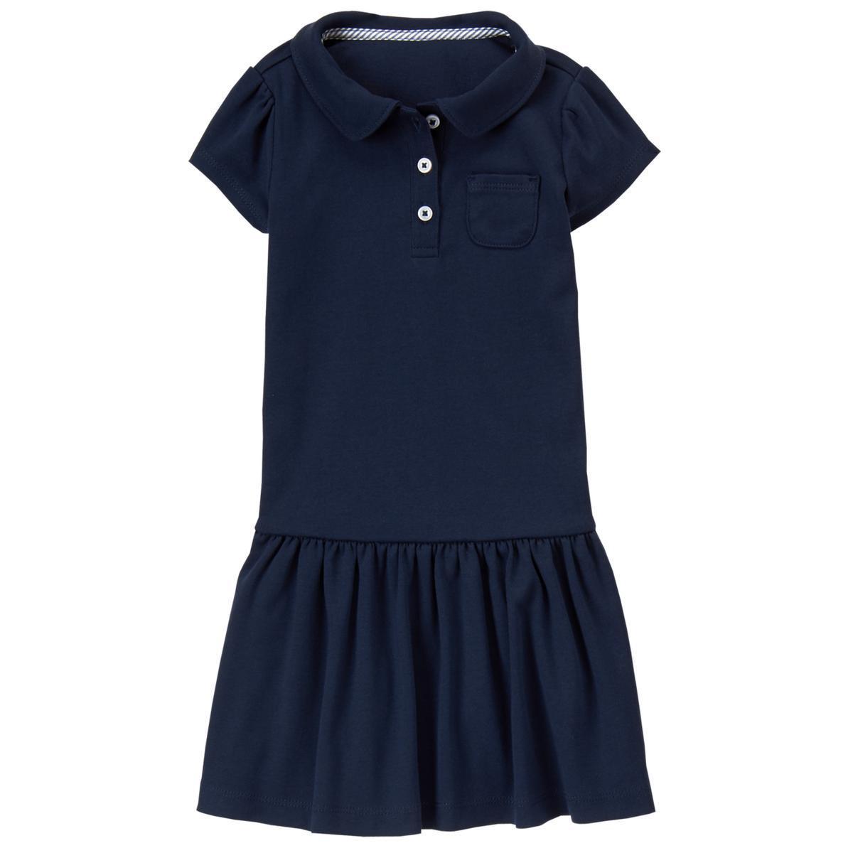 Школьное платье-поло темно-синее на девочку 6-7 лет Gymboree (СШA)