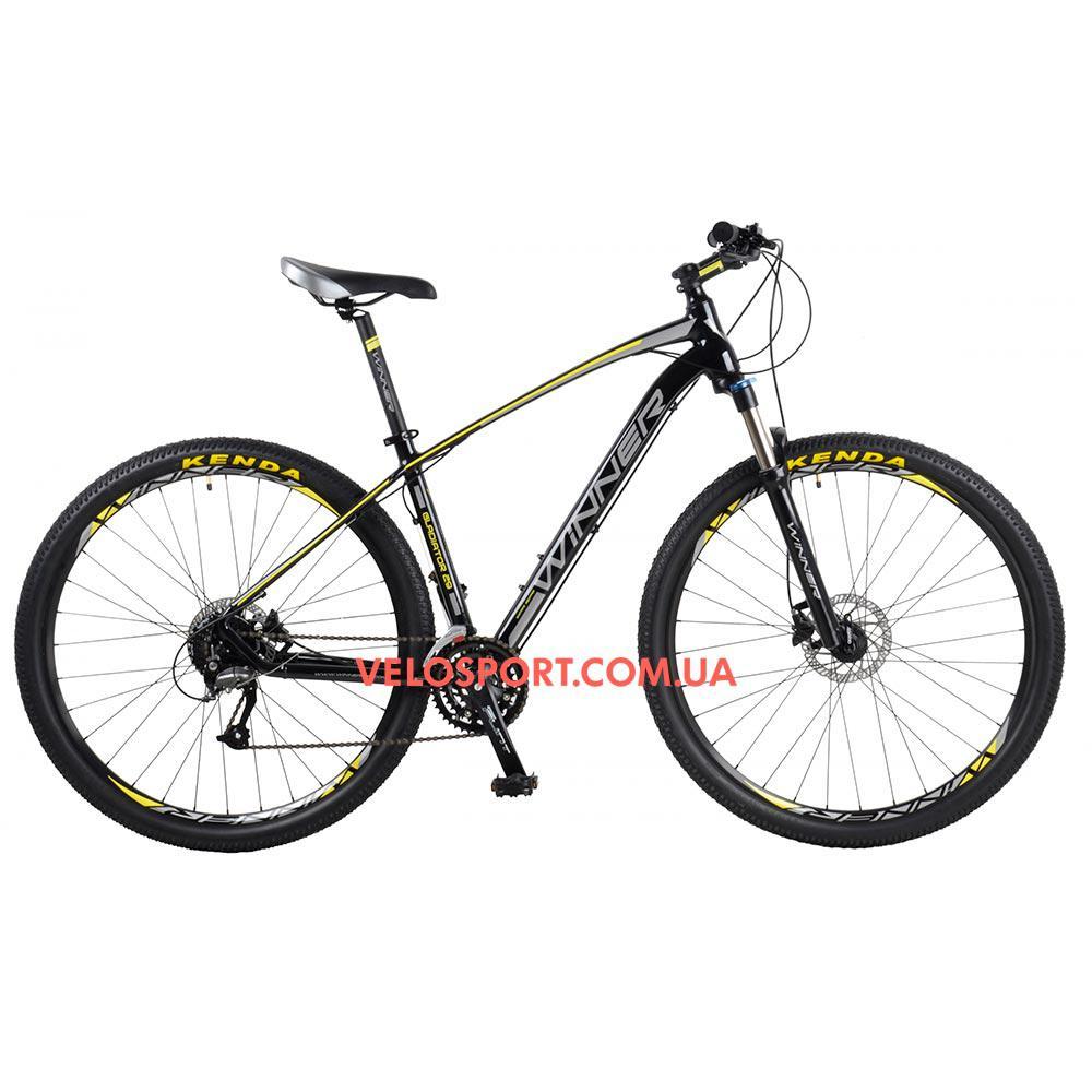 """Горный велосипед Winner Gladiator 29 дюймов 22"""" черный"""