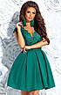 Нарядное вечернее гипюровое платье мини, фото 3