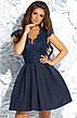 Нарядное вечернее гипюровое платье мини, фото 5