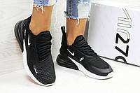 Nike Air Max 270 черные с белым женские кроссовки ( Реплика ААА+), фото 1