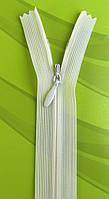 Молния потайная Молоко 18см пластиковая неразъемная спираль Kiwi