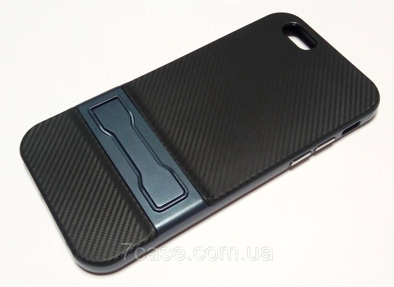 Чехол противоударный Ipaky для iPhone 6 / 6s со съемным пластиковым бампером и подставкой черный