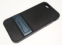 Чехол противоударный Ipaky для iPhone 6 / 6s со съемным пластиковым бампером и подставкой черный, фото 1