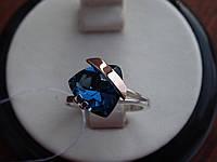 Серебряное кольцо с золотой пластинкой и танзанитом, фото 1