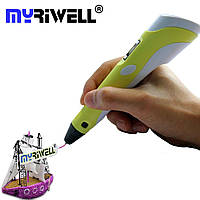 3d ручки 3D Pen-2 Stereo от MyRiwell с LCD дисплеем Желтый