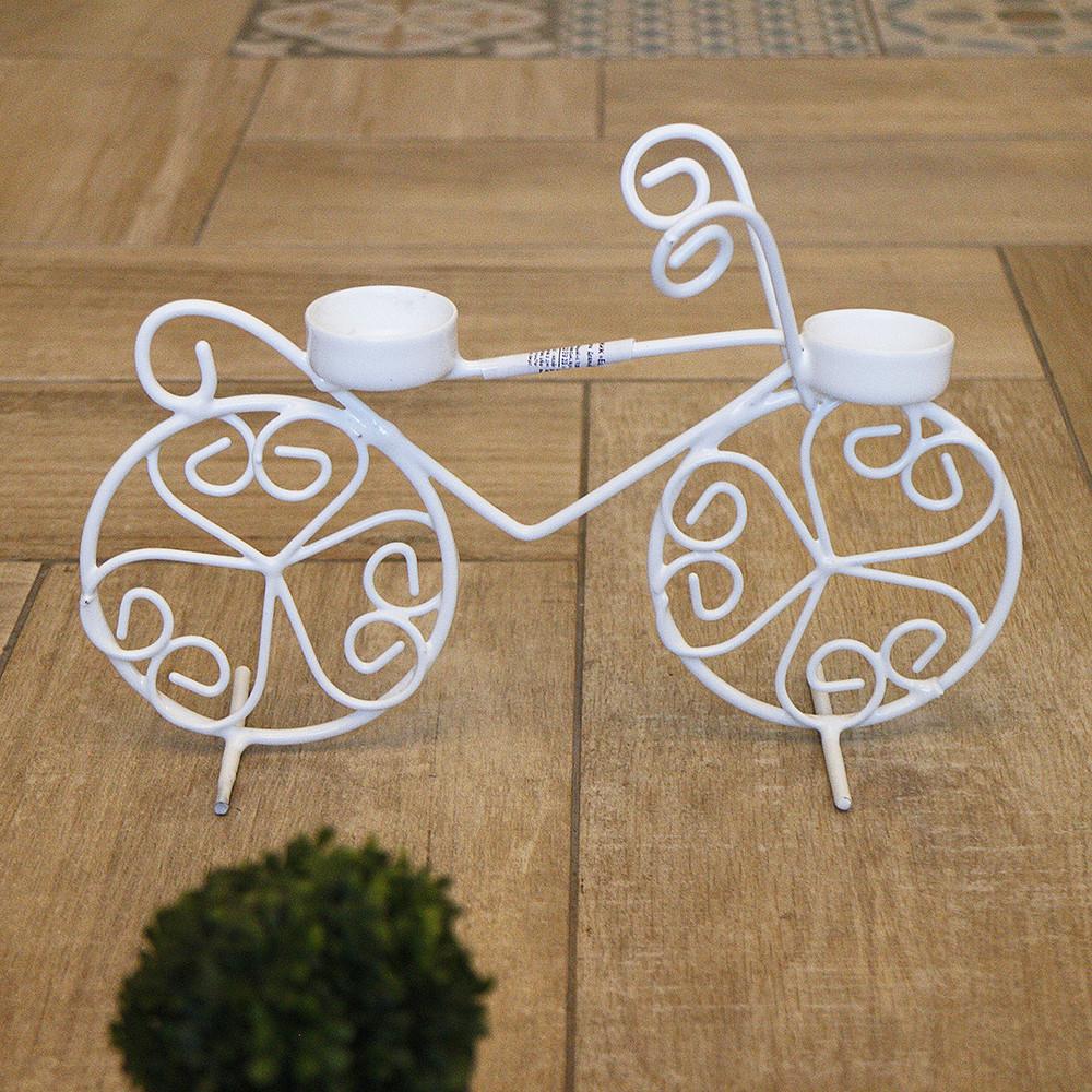 Подсвечник велосипед 2-х колёсный 18 см