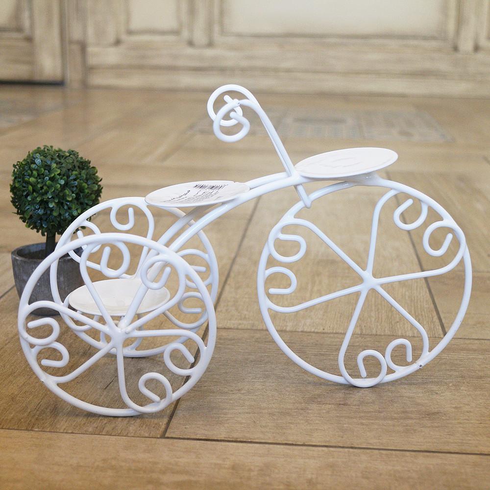 Подсвечник велосипед 3-х колёсный 22 см