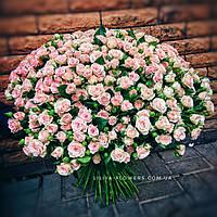 Букет розовых кустовых роз , фото 1