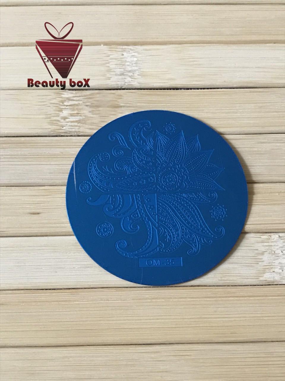 Пластина для стемпинга (круглая) OM 35