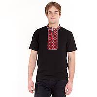 Вышитая футболка с коротким рукавом мужская