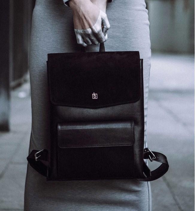 41bed64aa870 Женский Кожаный Рюкзак Blanknote Blank-Bag-1-black — в Категории ...