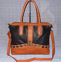 Женская сумка новая модель Feibo FP0544 черная с рыжим, фото 1