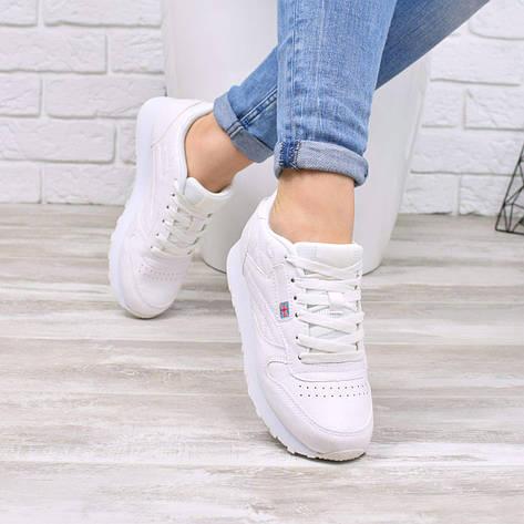 """Кроссовки, кеды, мокасины женские белые """"RB"""" эко кожа, спортивная, летняя, повседневная женская обувь, фото 2"""
