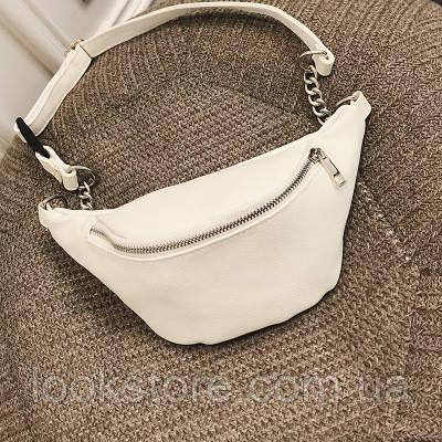 583d75032 LookStore.com.ua | Женская поясная сумка на пояс белая. Цена, купить ...