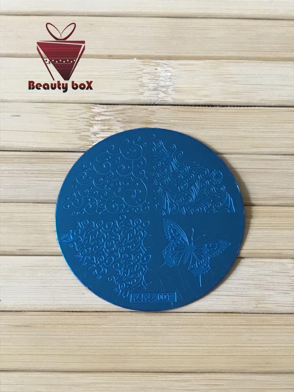 Пластина для стемпинга (круглая) hehe 004